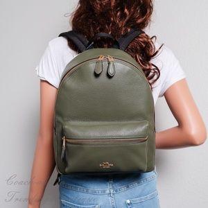 NWT Coach F30550 Medium Charlie Backpack in Green